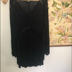 Torrid Black Sheer Top Dress Cover-up